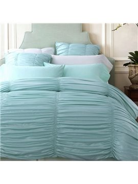 Graceful Seersucker Pink 6-Piece Duvet Cover Sets