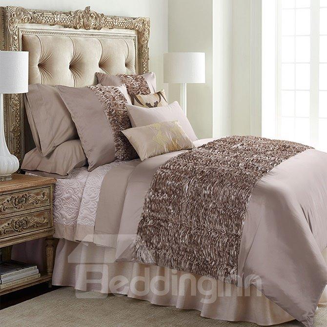 Luxury Retro Stereoscopic Embellishment 6-Piece Polyester Duvet Cover Sets