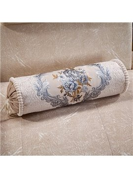 Retro Elegant Flower Print Candy Shape Pillow