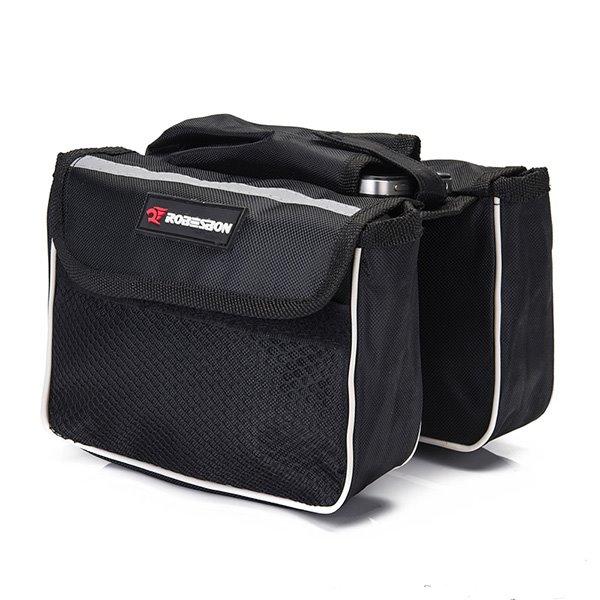 Double Waterproof Bike Front Frame Tube Bag Cycling Rear Seat Trunk Bag