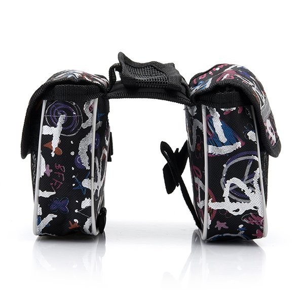 Waterproof Front Frame Tube Double Bike Bag Multi-function Cycling Bag