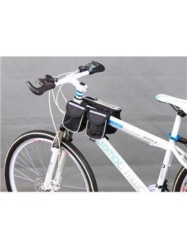 Waterproof Multi-function Bike Touchscreen Double Trunk Front Frame Tube Bag