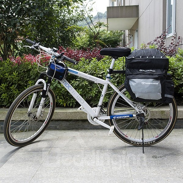 Waterproof Bike Tail Trunk Bag Cycling Pannier Rack Handbag Bicycle Bag