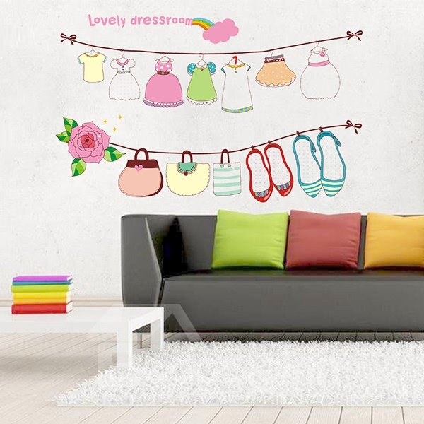 Amazing Lovely Dressroom Wall Stickers for Home Deoration