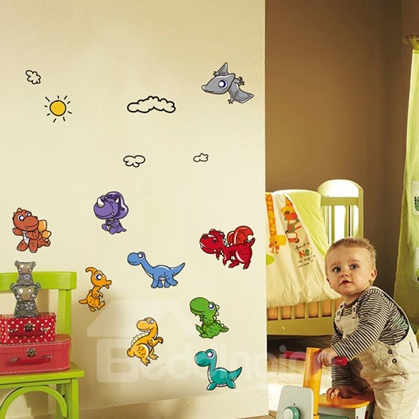 Hot Sale Cute Dinosaur Wall Stickers for Room Decoration