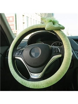 Hot Selling Fresh Green Color Steering Wheel Cover