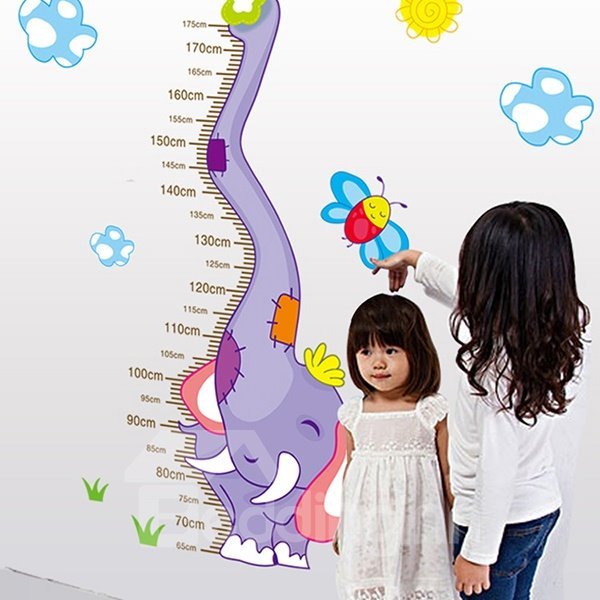 Hot Sale Elephant Height Measurement Kids Wall Stickers for Home Decoration
