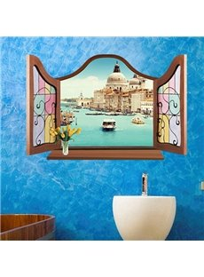 New Arrival River View Window Wall Stickers for Home Decoration