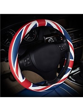 Red Blue And White Mixing Environment Material Steering Wheel Cover