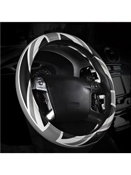 Black Gray Mixing High Class Steering Wheel Cover
