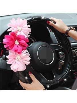 Charming New Style With Three Beautiful Flowers Steering Wheel Cover