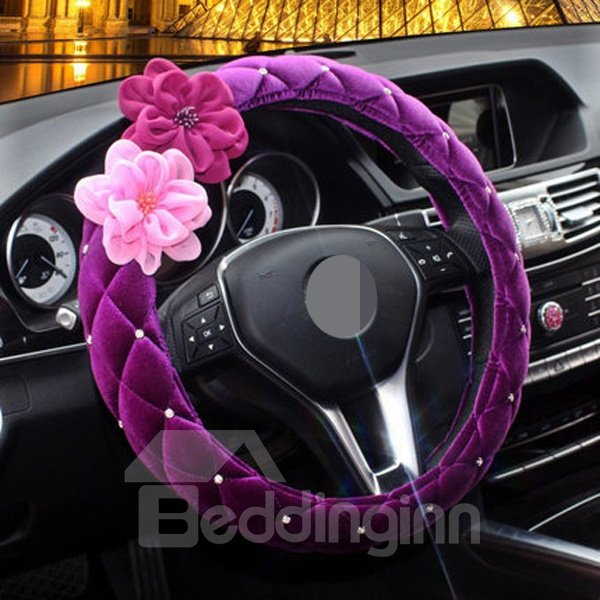 Pretty And Cute New Arrival With Beautiful Roses Steering Wheel Cover