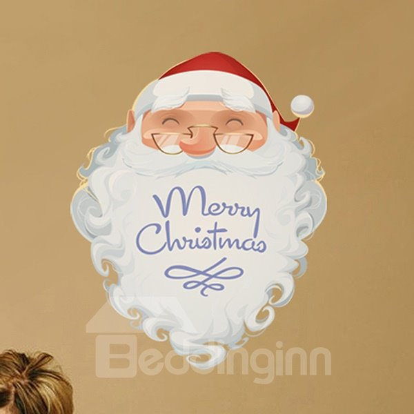 Hot Sale Father Christmas Wall Stickers for Home Decoration