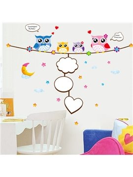 Cute Owl Wall Stickers for Children Room Decoration