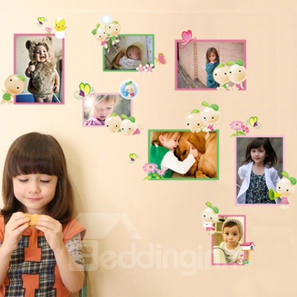 Cute Photo Frame Children Wall Stickers for Home Decoration