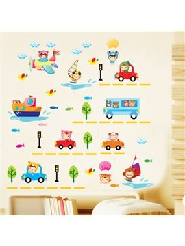 New Arrival Cute Vehicle Wall Stickers for Home Decoration