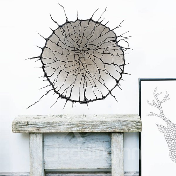 Creative Broken Wall Stickers for Home Decoration