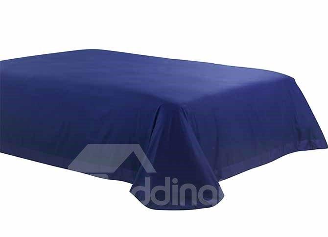 New Glamorous Stereoscopic Embellishment Blue 4-Piece Polyester Bedding Sets
