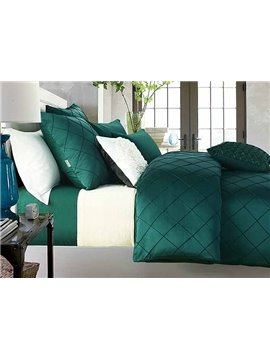 Elegant Exquisite Green 4-Piece Polyester Duvet Cover Sets