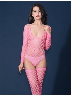Sexy Pink Temptation Hollow And High Quality Chemises