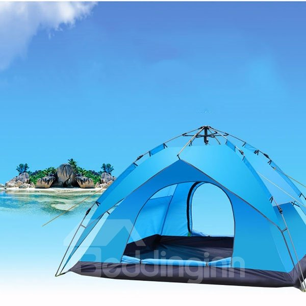 3-4 Person Four-season Waterproof Single Layer Quick Automatic Opening Outdoor Tent