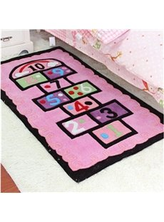 Modern Fashion Rectangle Game Pattern Children Area Rug