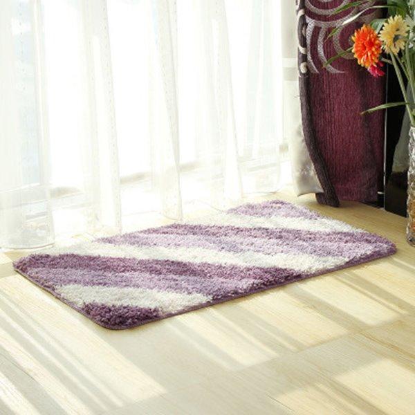 Simple Purple Stripe Home Decorative Doormat