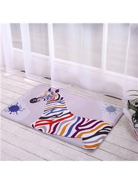 New Arrival Colorful Zebra Home Decorative Doormat