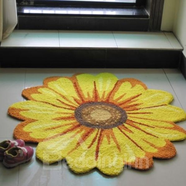 Simple Chrysanthemum Round Home Decorative Area Rug