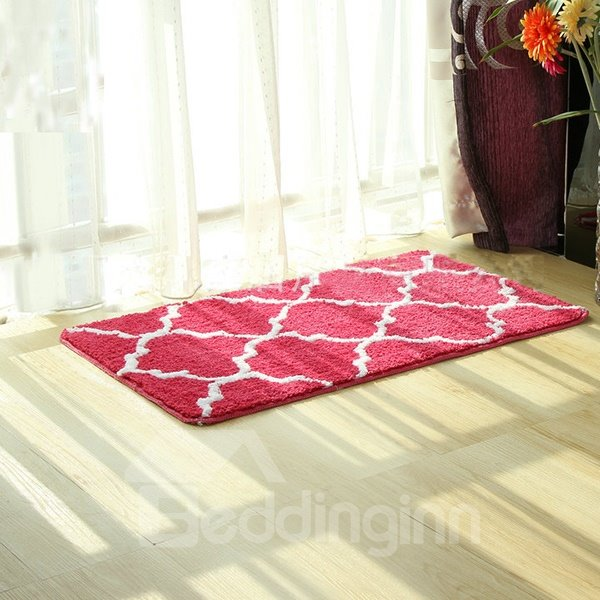 Rectangle Red Fibre Home Decorative Area Rug