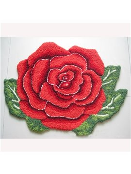 Beautiful Red Flower Home Decorative Area Rug