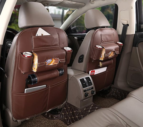 Super Cost-Effective Microfiber Leather Material One-Pair Car Backseat Organizer