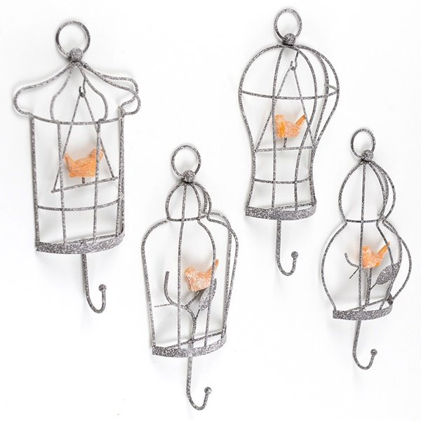 Creative European Style Birds Decorative Wall Hooks