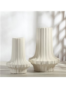 Modern Fashion White Ceramics Decorative Flower Vases