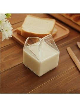 Simple Transparent Square Glasses Milk Cup