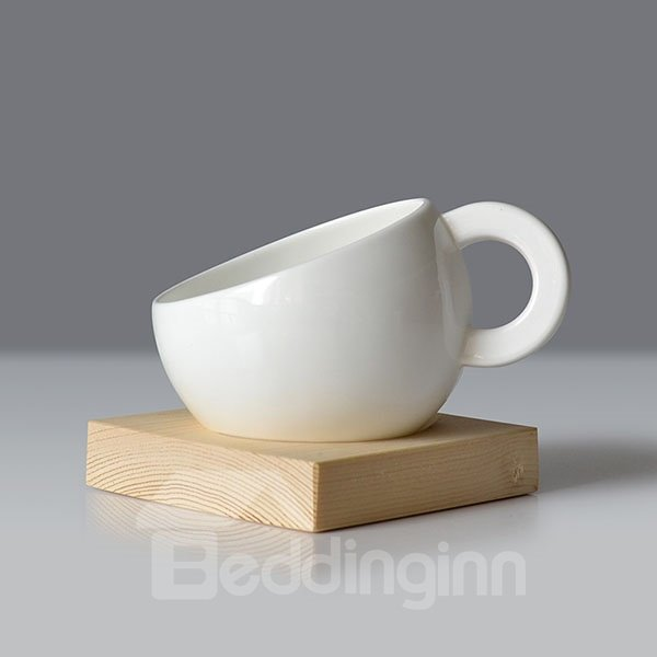 New Arrival White Ceramics Couple Breakfast Cup