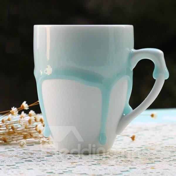 Simple Blue Overflow European Style Coffee Mug