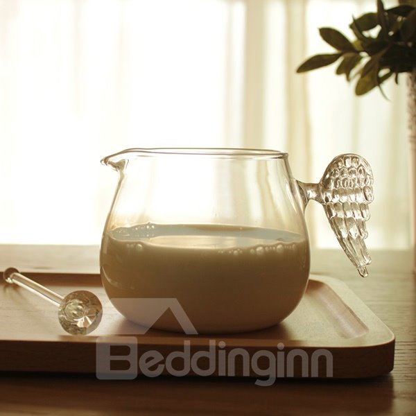Creative Glasses Angel Wing Milk and Fruit Juice Cup