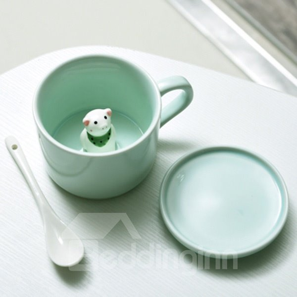 Cute 3D Animal Cartoon Ceramics Cup 12150151