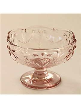 Cute Round Glasse Transparent Ice Cream Cup