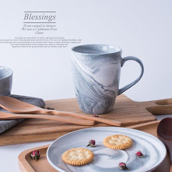 New Arrival Blue Ceramics Couple Coffee Mug