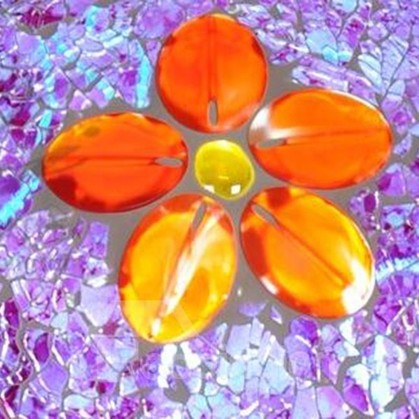 Modern Fashion Purple Flower Pattern Ceiling Light
