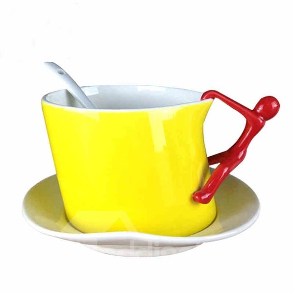 Hot Sale Yellow Creative Coffee Mugs for Home Decoration