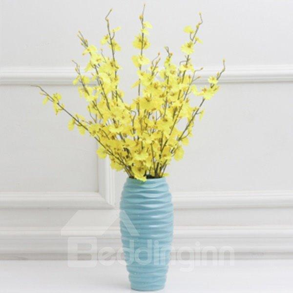 Modern Blue Ceramics Flower Vases for Home Decoration