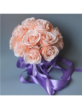 Beautiful Pink Champagne Roses Flowers for Wedding Decoration