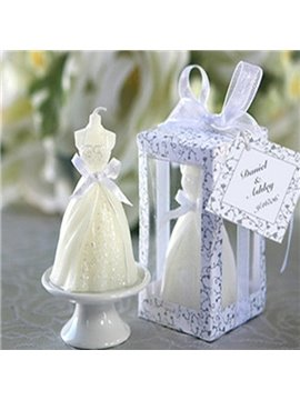 Hot Sale Simple Wedding Dress Candle for Home Decoration