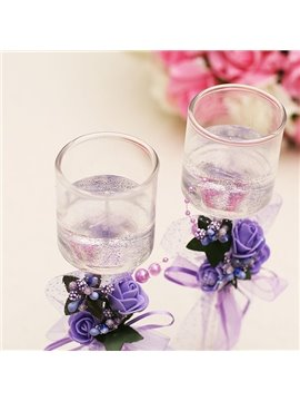 Beautiful Purple Fragrance Candles for Wedding Decoration