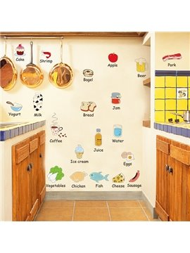 New Arrival Food Wall Stickers for Home Decoration