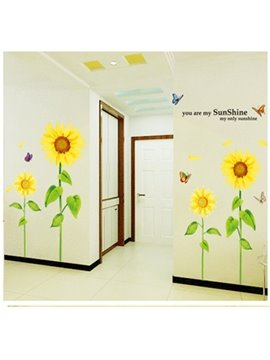 Simple Countryside Style Sunflower Wall Sticker