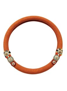 Solid Bohemian Style With Charming Flower Steering Wheel Cover